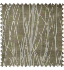 Beige Grey Twigs Design Poly Main Curtain Designs